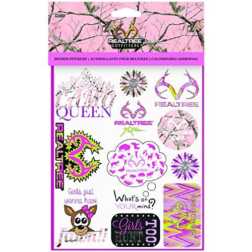 realtree-pink-girls-binder-stickers-kids-school-stickers-1-sheet