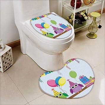 Super Amazon Com Iprint 2 Pcs Toilet Cover Set Non Slip Mat Dailytribune Chair Design For Home Dailytribuneorg