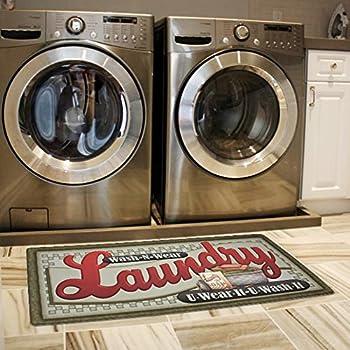 amazon com ustide wood print floor rug for laundry room cheap