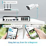 Reolink 4K PoE Home Security Camera System, 8