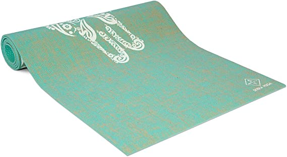 Plants A Tree. Seeka - Premium Natural Jute Yoga Mat. Organic & Eco Friendly, Non-Toxic and Reversible. Non Slip. Anti-Bacterial - Extra Long and Wide ...