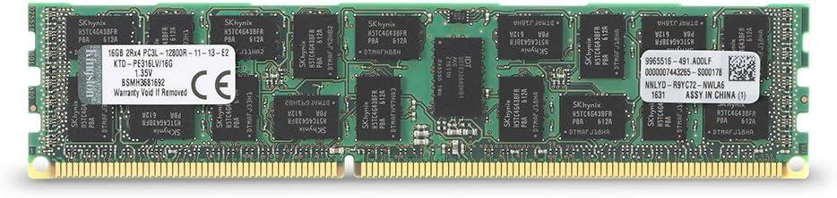 Kingston Technology 16GB 1600MHz DDR3 Reg ECC Low Voltage DIMM Memory for Dell Desktops (KTD-PE316LV/16G)