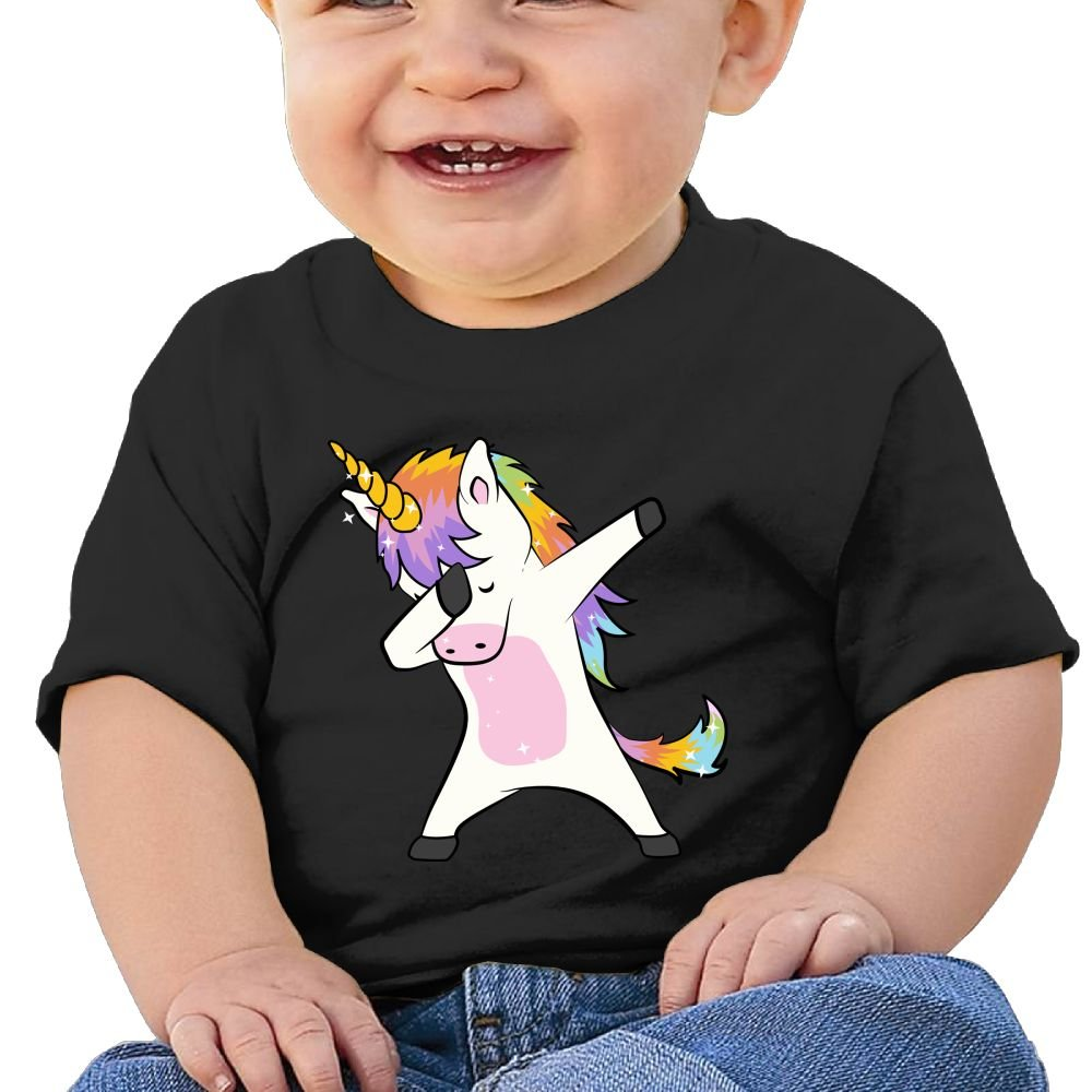 REBELN DAB Unicorn Cotton Short Sleeve T Shirts For Baby Toddler Infant