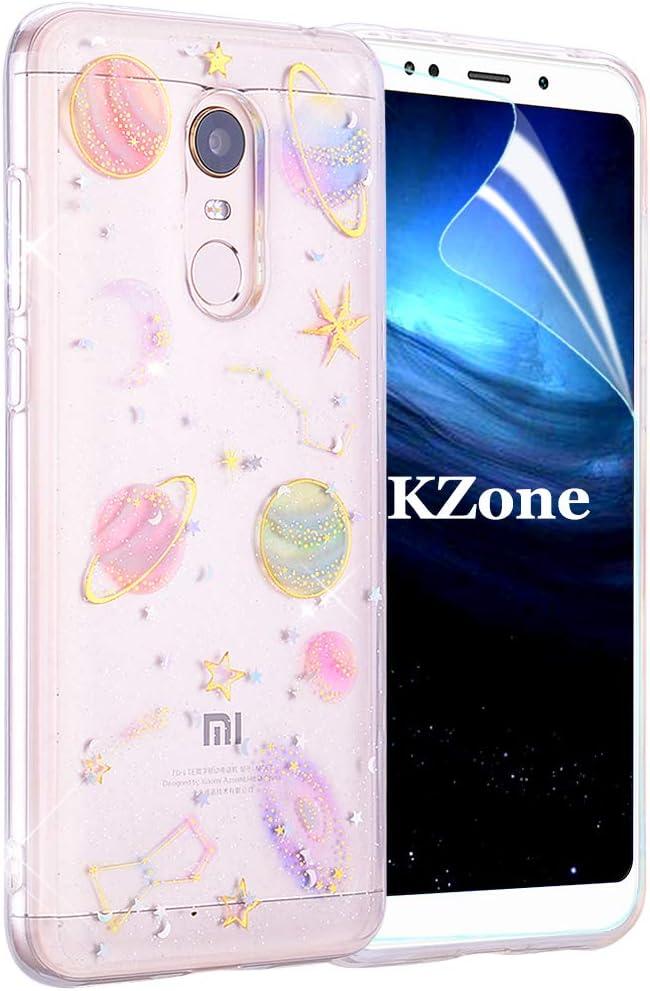 OKZone Funda Xiaomi Redmi 5 Plus, [Serie Cielo Estrellado] Cárcasa Brilla Glitter Brillante TPU Silicona Teléfono Smartphone Móvil Case [Protección a Pantalla y Cámara] para Xiaomi Redmi 5 Plus: Amazon.es: Electrónica