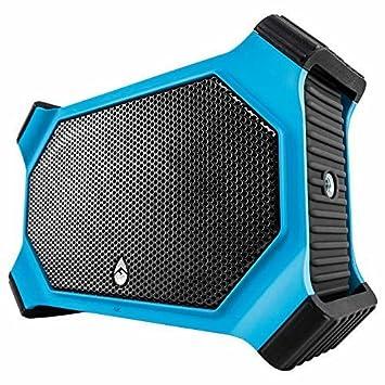 ECOXGEAR EcoSlate GDI-EXSLT811 Rugged Waterproof Floating Portable Bluetooth 20 Watt Stereo Wireless Smart Speaker Electric Blue