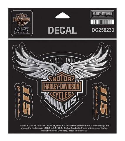 Amazon Com Harley Davidson 115th Anniversary Eagle Decal Medium