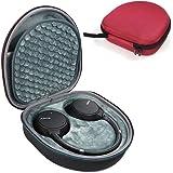 ZBRGX ヘッドホンケース Sony ソニー WH-CH700N ケース, WH-CH510 対応 ハードケース バッグ 保護カバー 収納袋 耐衝撃 (赤)