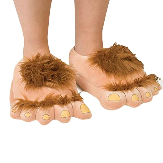 Amazoncom Voberry Men Women Cute Big Feet Creative Plush Slipper