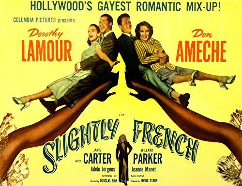 Posterazzi Slightly French Dorothy Lamour Don Ameche Willard Parker Janis Carter Adele Jergens 1949 Movie Masterprint Poster Print (28 x 22)