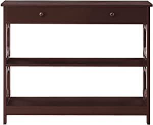 Convenience Concepts Omega 1 Drawer Console Table, Espresso