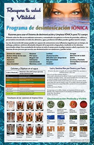 Cartel promocional de Desintoxicación Iónica Baño de Pies Iónico Spa Chi Limpieza. Detox Foot Bath Poster in Spanish by Better Health Company