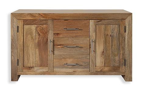 Mobili Credenza Moderna : Cube petite moderno chunky mango massiccio legno mobili credenza