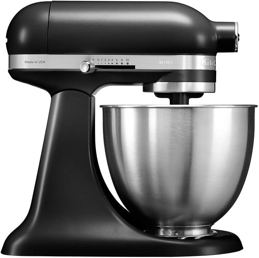 KitchenAid 5KSM3311X - Robot de cocina (3,3 L, Negro, palanca, 200 RPM, 1,219 m, CC)