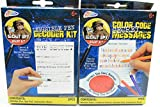 Bundle: 2 Items- Undercover Spy Gear Color Code Message + Invisible Pen & Decoder Pad Kit Crime Detective Fun Pack