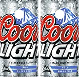 avgrafx Cornhole Wrap Decals Coors Light Beer Laminated Includes 2 Decals