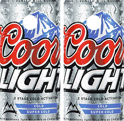 avgrafx Cornhole Wrap Decals Coors Light Beer Laminated Includes 2 Decals by avgrafx