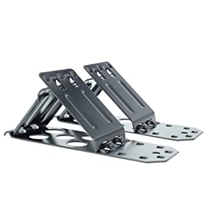OVOS Foldable Heavy Duty Metal Steel Wheel Chock Safety Folds for Easy Storage Portable Set of 2