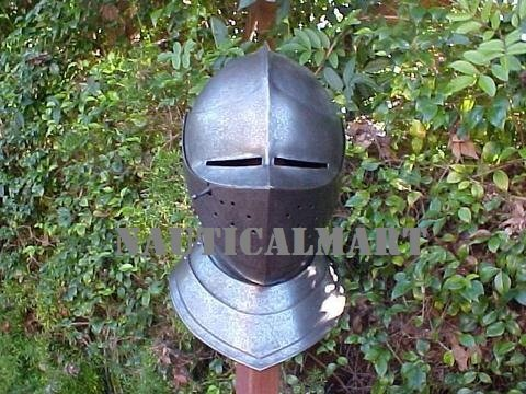 Medieval European Close Armor Helmet By Nauticalmart by NAUTICALMART