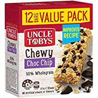 UNCLE TOBYS Muesli Bars Chewy Choc Chip, 12 Pack, 375g