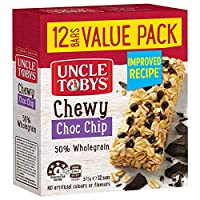 UNCLE TOBYS Muesli Bars Chewy Choco Chip, 12 Pack, 375 Grams