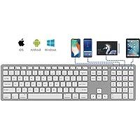 HOPEMOB Teclado Multi Y Mouse Bluetooth Mac Macbook Windows Android (Teclado Blanco)
