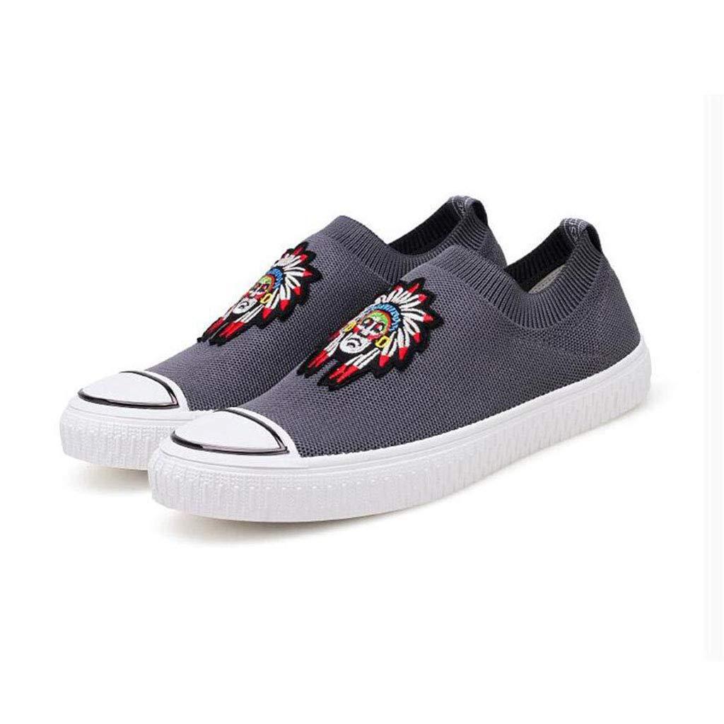 YIWU Bewegung Freizeitschuhe Board Schuhe Faule Männer Flut Schuhe Turnschuhe (Farbe   Grau, Größe   EU43 UK9 CN44)