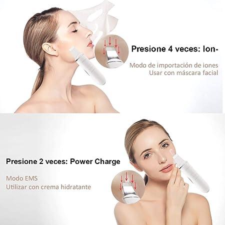 Ultrasonic Skin Scrubber Ultrasónico Piel Limpieza Facial Skin Scrubber Wolady 4 in 1 USB Carga Ultrasonic Peeling Piel Masajeador Facial Extractor Blackhead Remover Poro Exfoliación Comedón Acné Piel