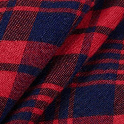 AmazingDays Maglia a manica lunga - Monospalla - Stampa animalier - Donna rosso L