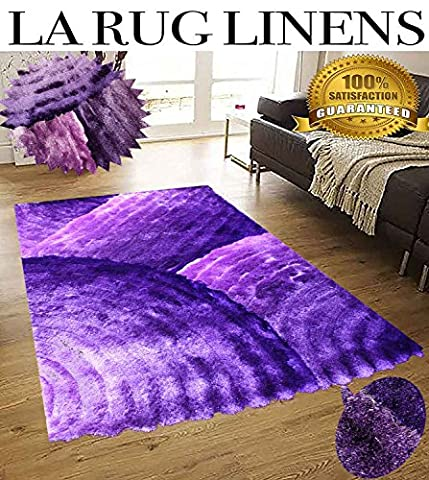 Shimmer Home Store Office Cozy Shag Collection 3D Shag Rug Contemporary Living & Bedroom Soft Shaggy Area Rug 5-Feet-by-7-Feet-Purple, Lavender, Lilac, Mauve, Plum ( SAD 280 Purple (Shaggy Purple Rug)