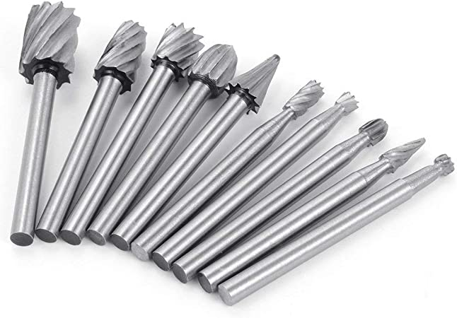 5x 3mm Metal Routing Router Bits Grinding Burr Rotary Tool for Wood Carving