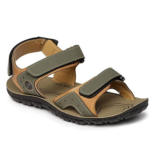 46244a7b5622 PARAGON SLICKERS Men s Green Sandals  Buy Online at Low Prices in ...