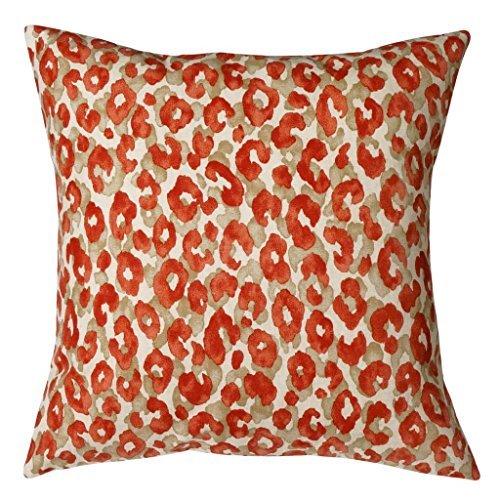 Pillow Covers Pillow Shams Throw Pillows Decorative Pillows 18 Inch Red Snow Leopard [並行輸入品] B07RDX5PBX