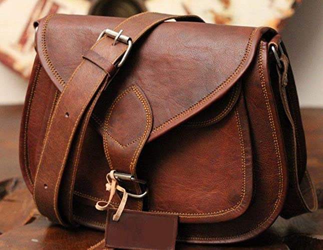 176772fa367c 🎁 Handmade Leather Women Purse Shoulder Bag Crossbody Satchel Ladies Tote  Travel Purse Genuine Leather | 9 x 7 Inch | With Free Shipping: Amazon.ca:  ...