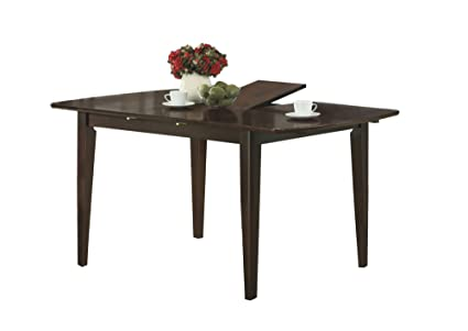 Amazoncom X X CAPPUCCINO WITH A LEAF DINING TABLE Tables - 36 x 48 dining table with leaf