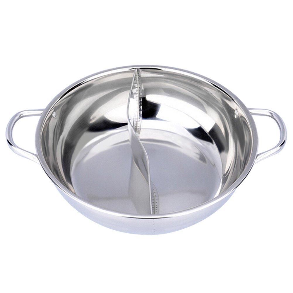 hofumix Shabu Shabu doble cara Hot Pot con separador Yuanyang Pot chino Hot Pot sartenes para inducción vitrocerámica cocina de gas: Amazon.es: Hogar