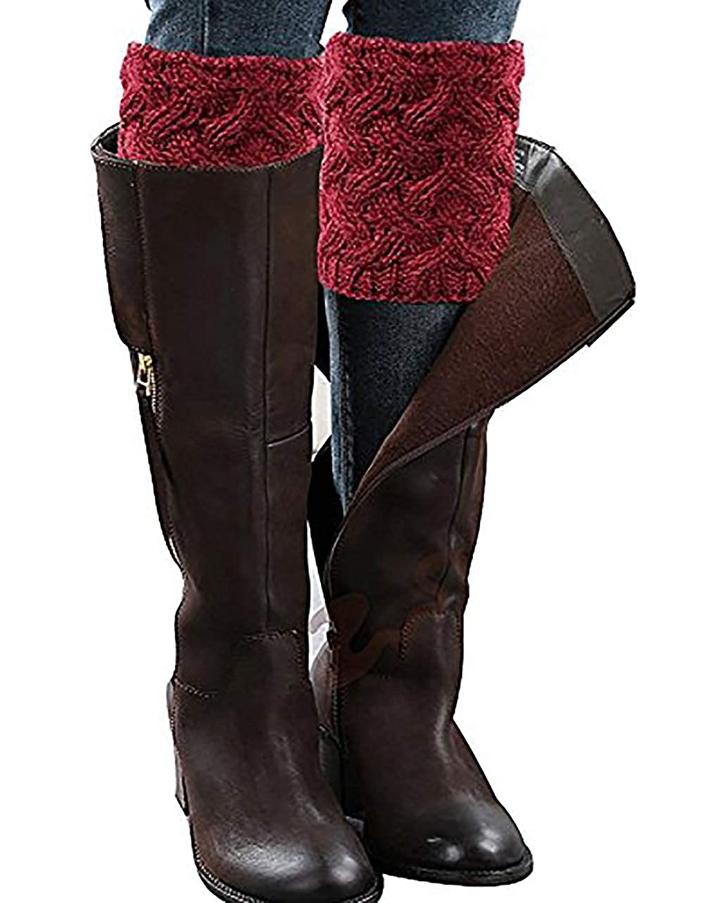 Leg Warmers Socks, NXET Women's Short Leg Warmers Crochet Boot Knit Cover