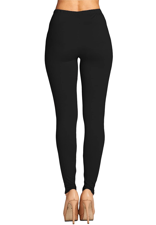 0a8ed69cbacae8 Leggings Mania Regular/Plus (XS-5XL) Solid Buttery Soft High Waist Always  Leggings at Amazon Women's Clothing store: