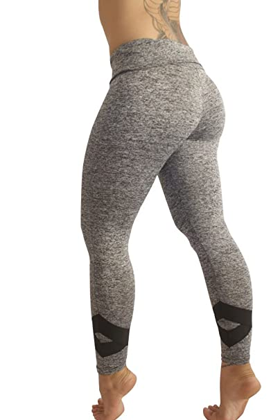 3c0d06ae3252a Lotus Legs Grey and Black Yoga Leggings Workout Fitness Pants (Small)