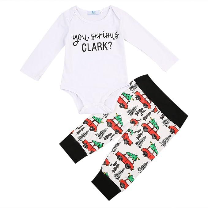 Amazon.com: Conjunto de ropa de Navidad para bebé, niña ...