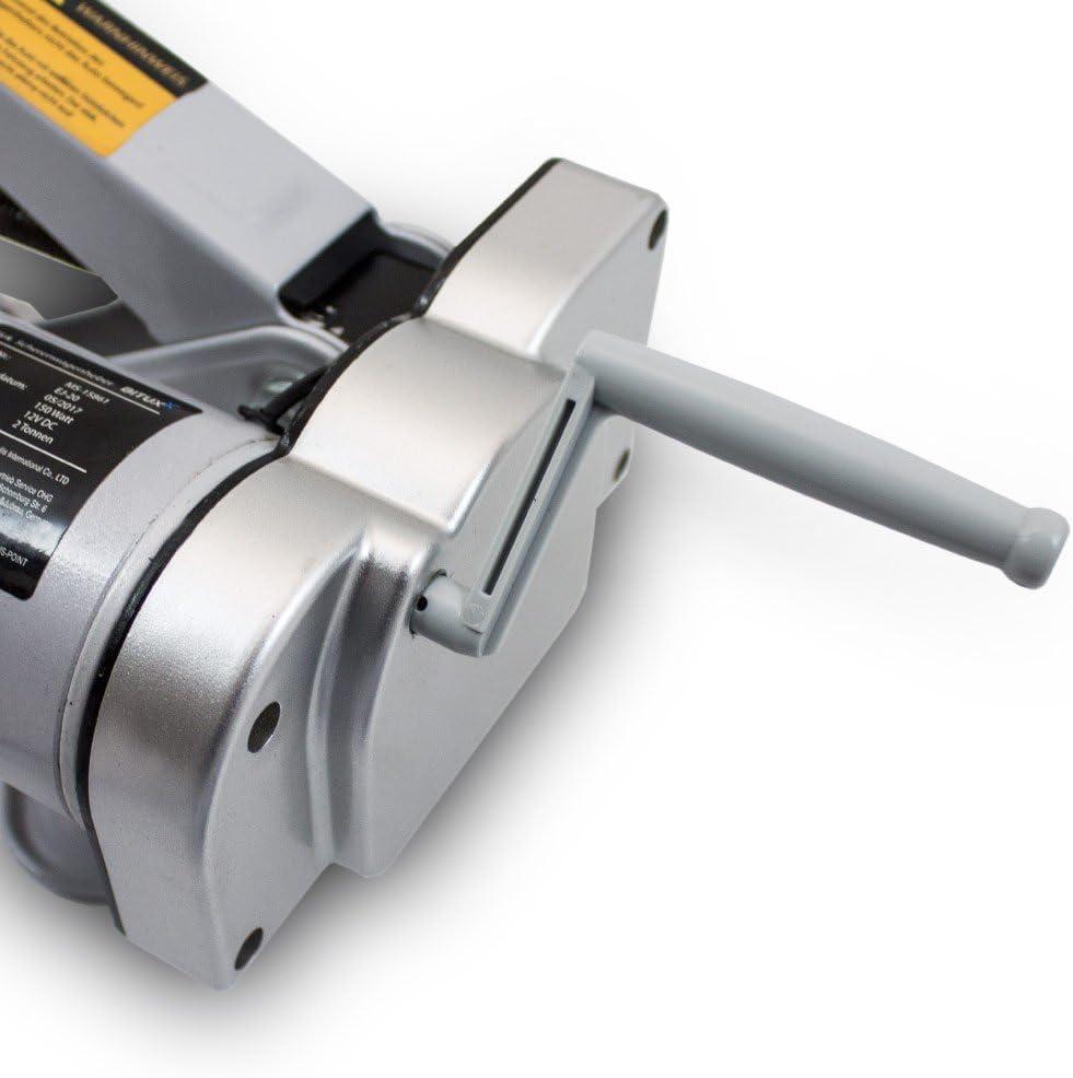 BITUXX/® Elektrischer Wagenheber Scherenwagenheber Autoheber KFZ Auto PKW 12V 2T 2000Kg
