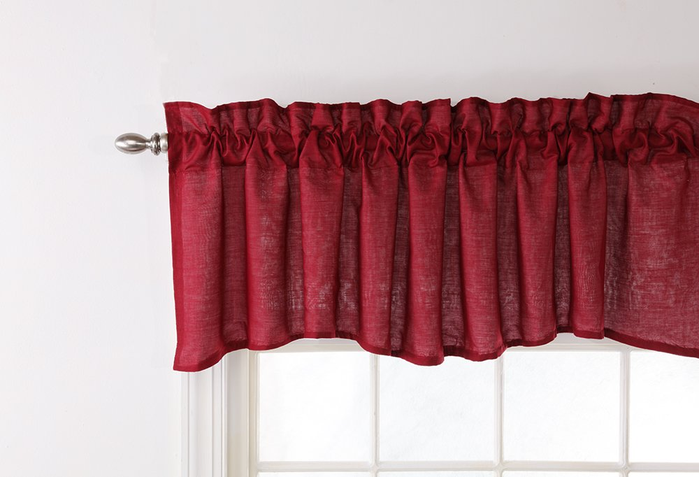 Stylemaster Renaissance Home Fashion Emery Lined Valance, 177,8cm da 50,8cm, Bordeaux Stylemaster Home Products