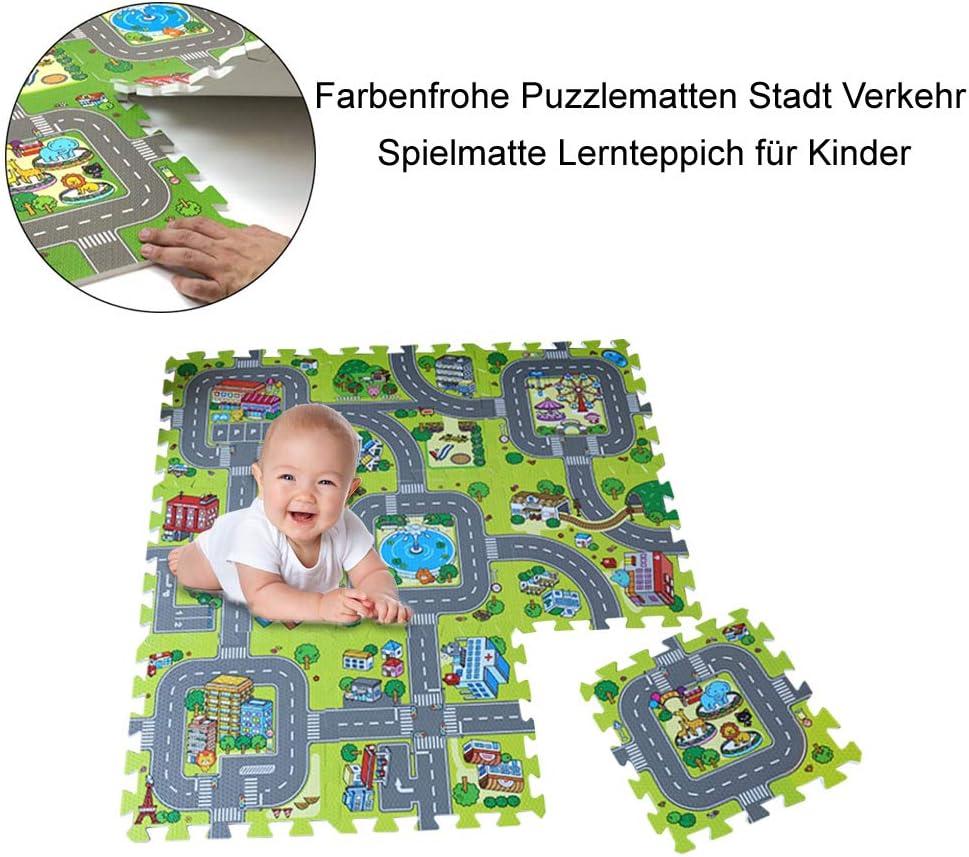Nicht Giftig Kinder Stadt Spielmatte Spaß Autos Play Straße Teppich Eva Schaum