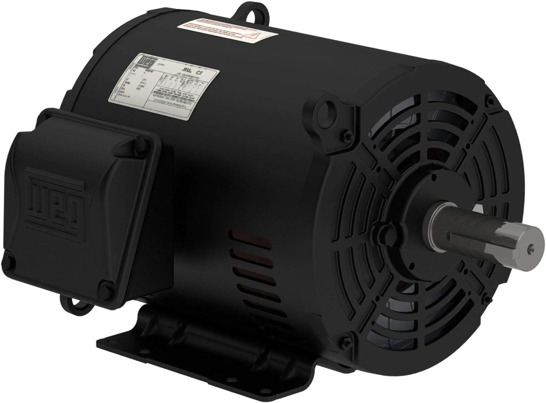 WEG 10 HP 3 Phase 1750 RPM Electric Motor Air Compressor Duty 213 / 215T Frame 01018OT3E215T-S