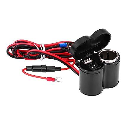 Cargador USB para motos, encendedor de cigarrillos a prueba de agua para motocicletas, encendedor de cigarrillos para autos, cargador universal para ...