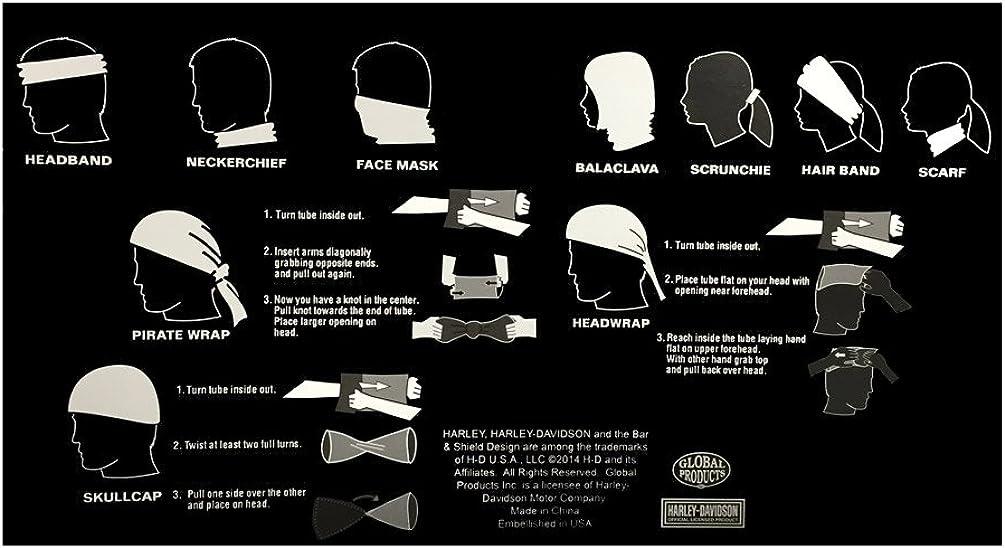 Multi-functional headwear  bar and shield HARLEY-DAVIDSON black//orange