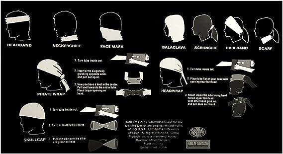 Harley-Davidson All Over Bar /& Shield Multifunctional Headwear Wrap// Face Mask