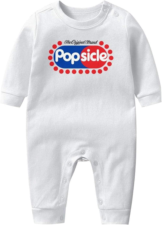 NAKHFBVi Popsicle-Cream Baby Boys Girls Long Sleeve Baby Onesie Bodysuit
