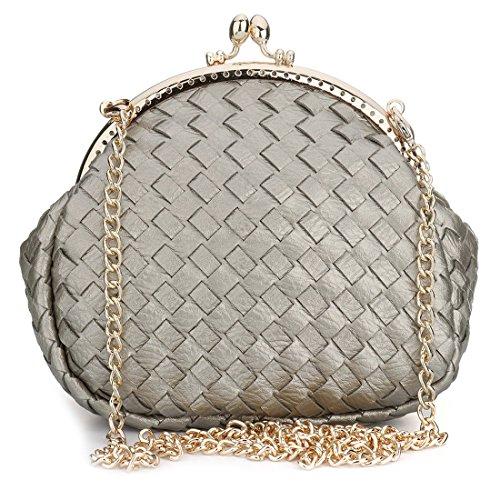 Bag Evening Gris SSMK Pochette femme pour q6w5f