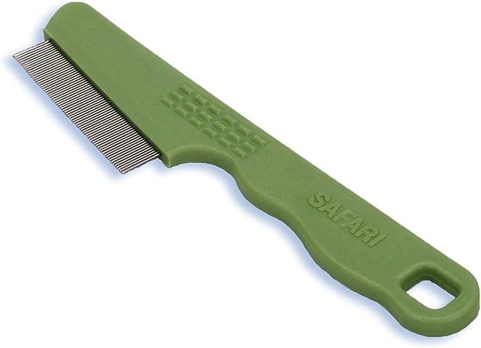 Safari Pet Products Safari Flea Comb for Cats, Flea and Tick Prevention for Cats, Cat Flea Treatment, Flea Prevention