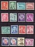 1954 Liberty series 16 MINT stamps Franklin Washington Jefferson Lincoln Monroe Statue of Liberty Alamo